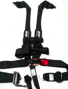 PRP Seats 5.3 Harness with ratchet and hans straps.