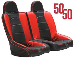 RZR 50 50 front bench in black and red