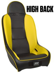High Back suspension seat in Yellow