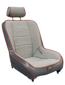 Premier suspension seat with adjustable headrest