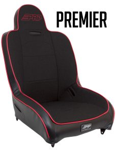 Premier High Back suspension seat in black and red
