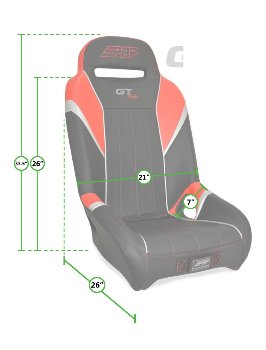 Gt S E Suspension Seat For Polaris Rzr Prp Seats