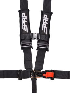 5 point, 3 inch harness in black