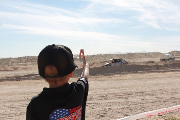 Jeremiah Staggs getting a thumbs up at the Polaris RZR UTV World Championships