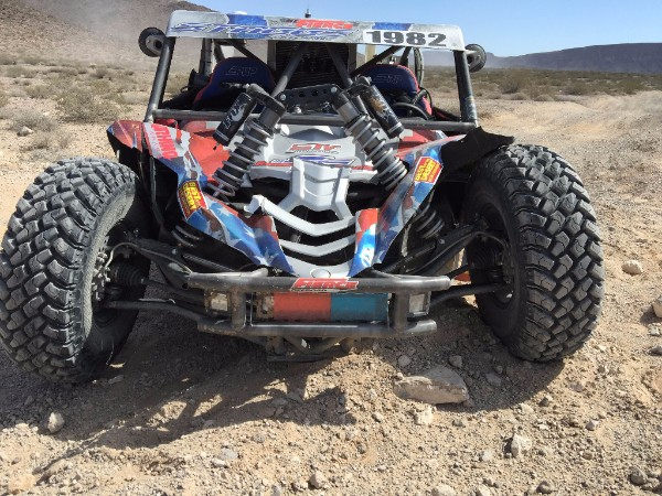Staggs' Yamaha YXZ after the shocks broke loose from the frame