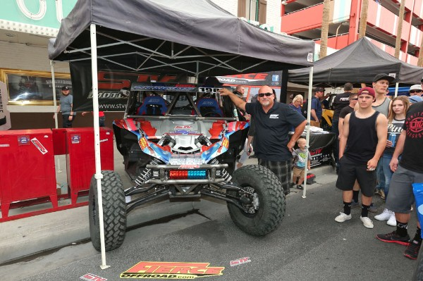 Staggs' Yamaha YXZ on display during contingency at the Mint 400
