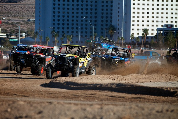Mitch Guthrie Jr. taking the lead off the line at the Polaris RZR UTV World Championship