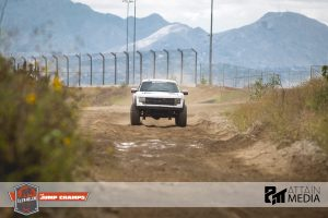 Ford Raptor charging the time trials at Jump Champs. Photo copyright Attain Media