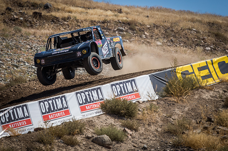 Deegan hitting the downhill section in Reno
