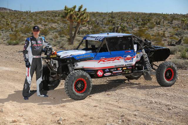 Wes Miller in front of the new factory team Polaris 2017 RZR