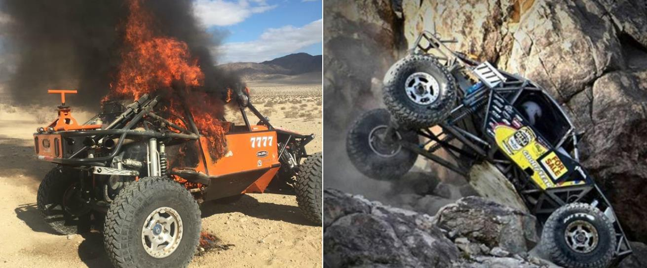 Dsquared's Lisa takes over to help out a comeptitor who burnt down at King of the Hammers 2017