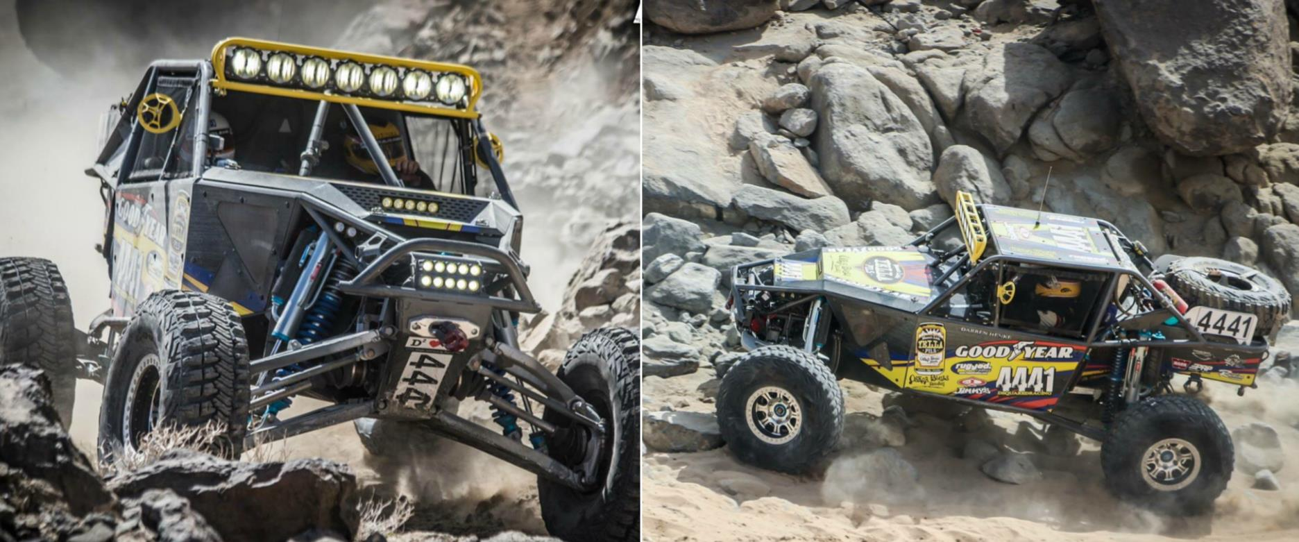 Side by side shot of the Dsquared team racing at KOH 2017