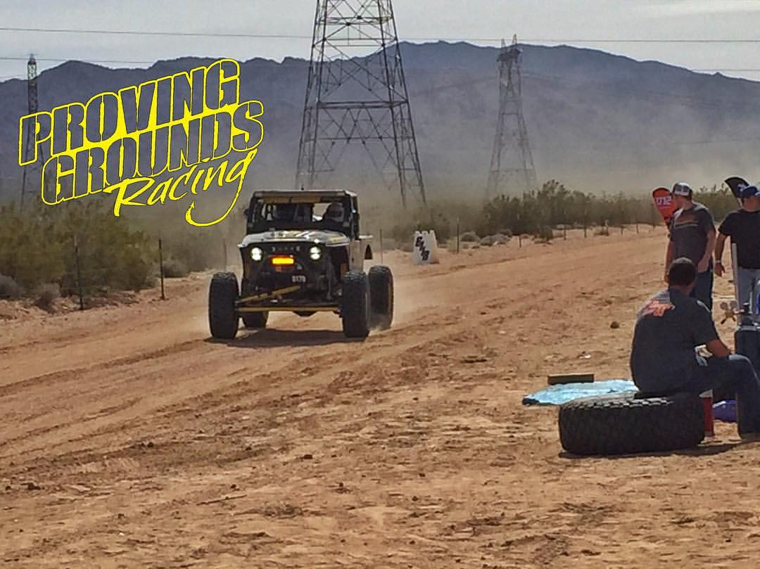 PGR coming into the pits at the Mint 400