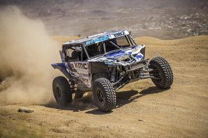 Jeremiah Staggs racing during the UTV World Championship