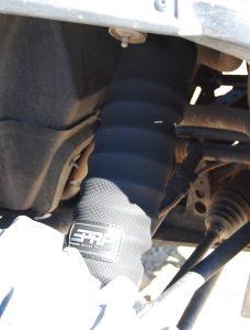 UTV shock covers installed