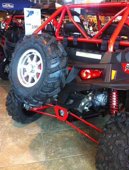 RZR spare tire mount with tire