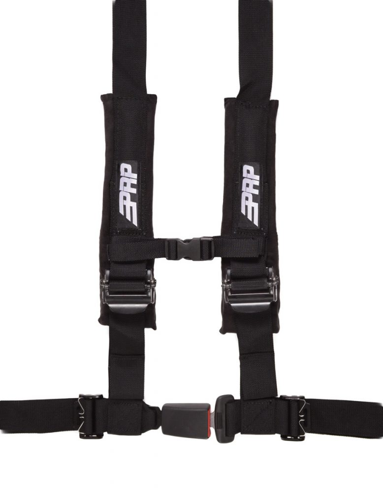 PRP 4 point harness with auto latch, black