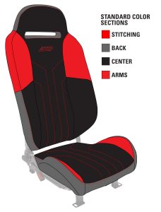 Color options for Polaris Slingshot Seats