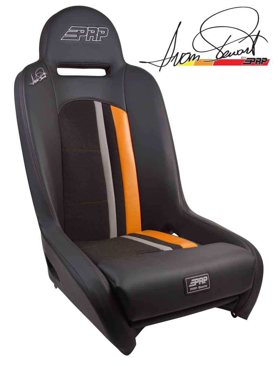 Ivan Stewart Ironman Suspension Seat with Orange Trim