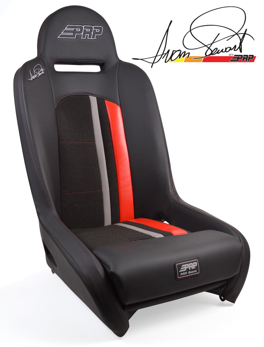 Ivan Stewart Ironman Suspension Seat with red Trim