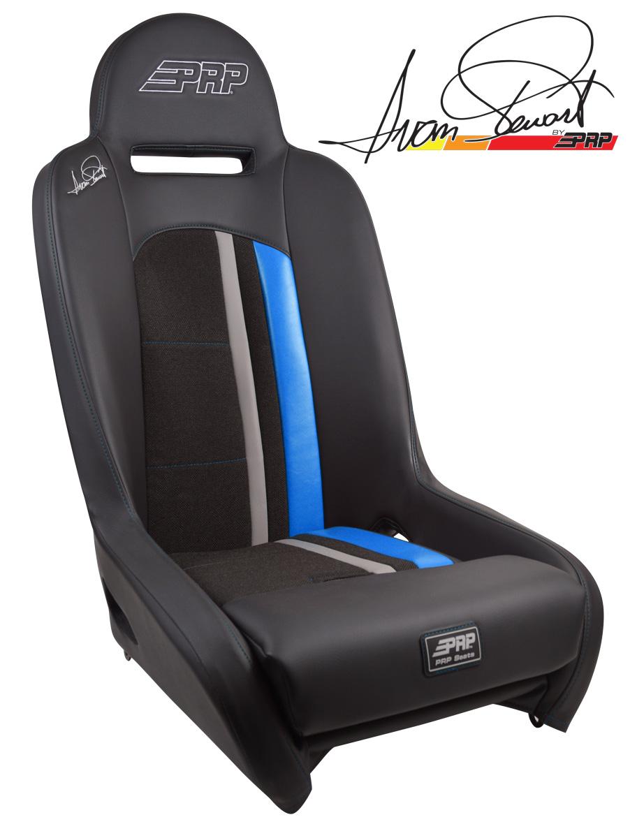 Ivan Stewart Ironman Suspension Seat with Blue Trim