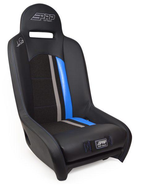 Ivan Stewart Ironman UTV Suspension Seat with blue Trim