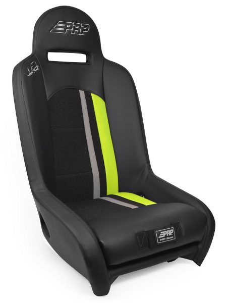 Ivan Stewart Ironman UTV Suspension Seat with Lime Trim