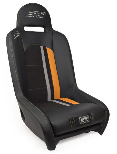 Ivan Stewart Ironman UTV Suspension Seat with orange Trim