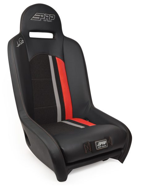 Ivan Stewart Ironman UTV Suspension Seat with red Trim