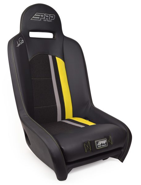 Ivan Stewart Ironman UTV Suspension Seat with yellow Trim