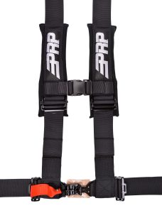 4 point harness with 3 inch straps in black