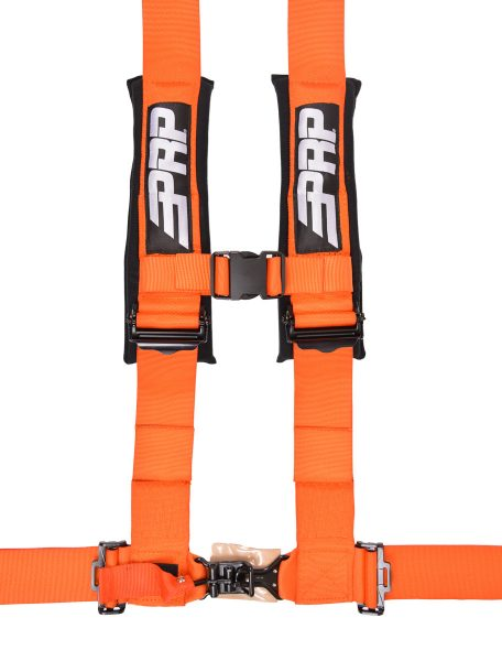 4 point, 3 inch harness in orange