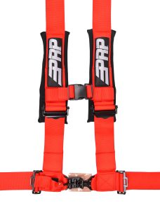 4 point, 3 inch harness in red