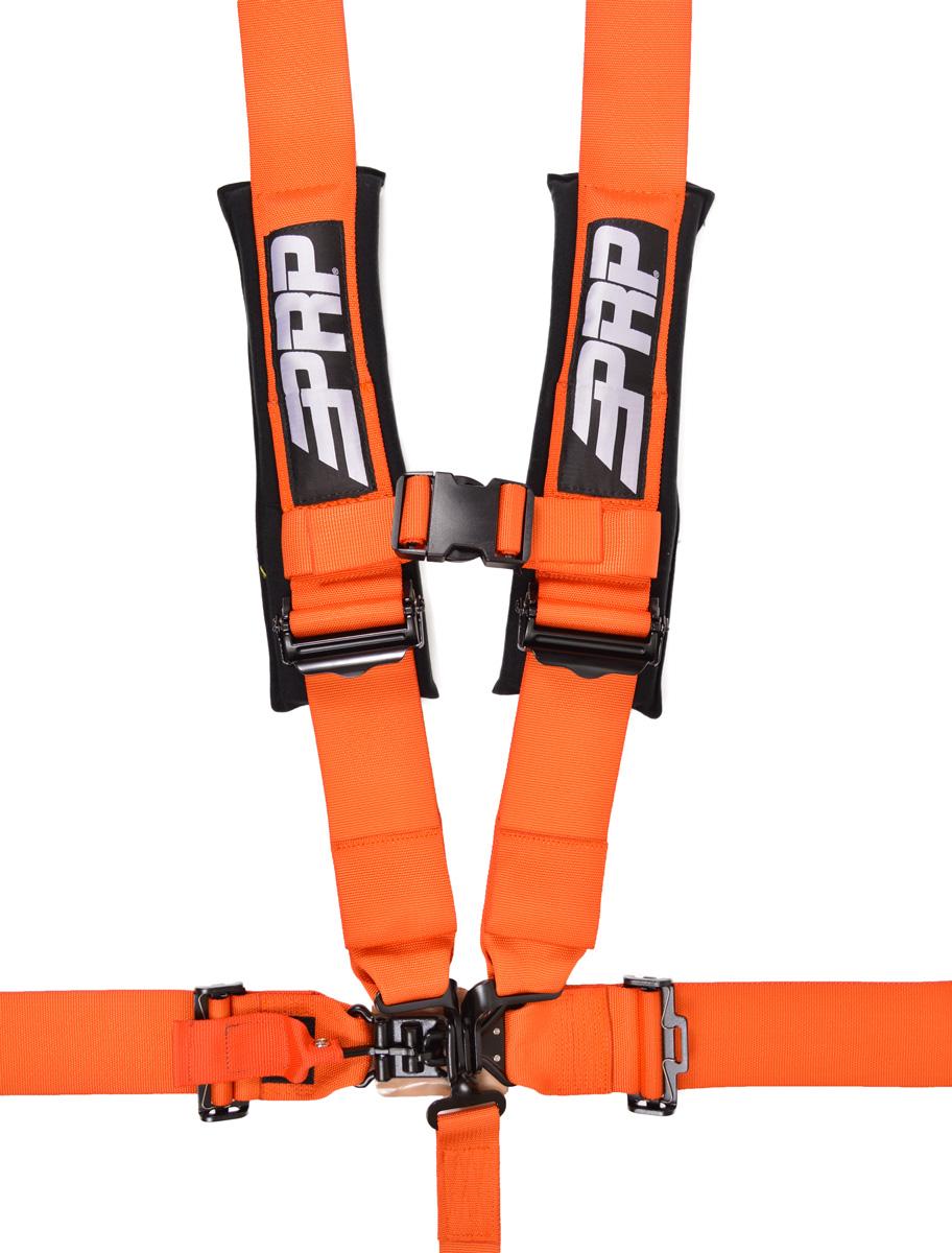 5 point, 3 inch harness in orange