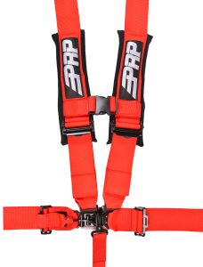 5 point, 3 inch harness in red