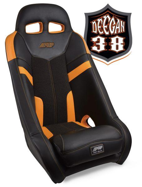 Deegan 38 UTV seat in orange