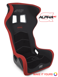 Alpha seats with head containment for competition