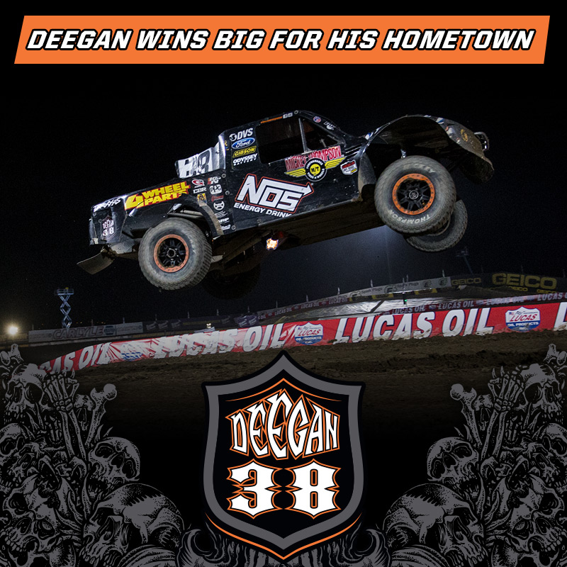 Deegan wins big for his hometown