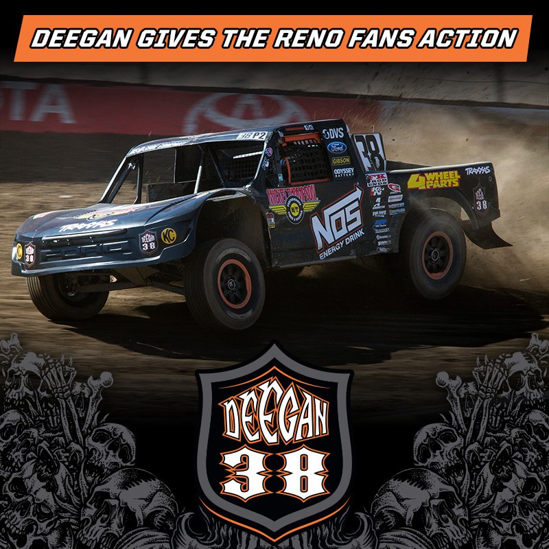 Deegan Gives the Reno Fans Action