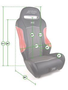 Measurements for PRP's XC Seat