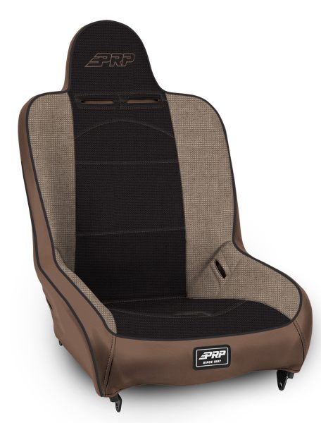 Tan and Black Premier High Back Suspension Seat