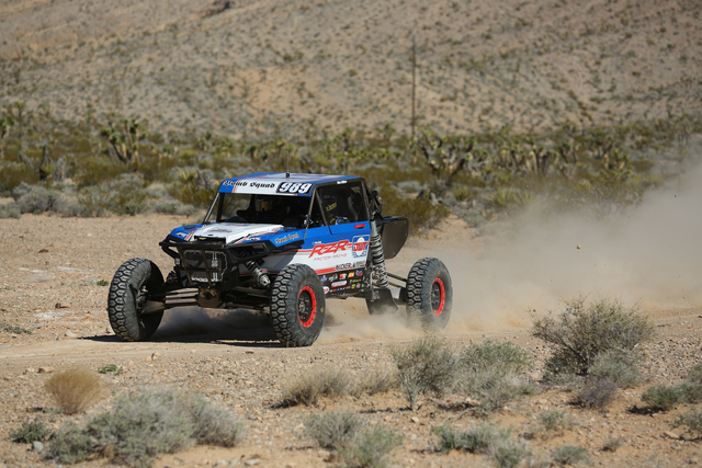Wes Miller drives the DWT Bombsquad RZR at the Mint 400