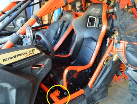 Can-Am Maverick X3 Lowering Kit installed with PRP's Alpha Composite Seat