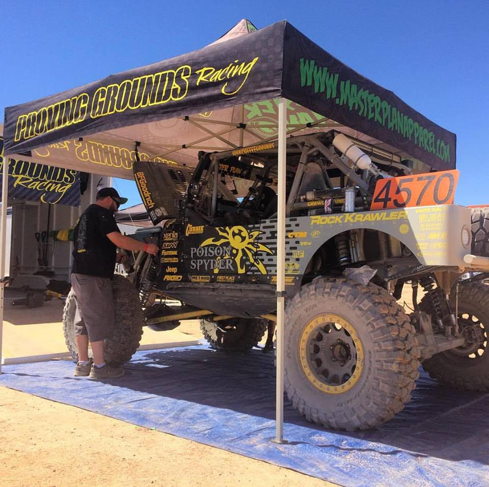 Proving Grounds in the pits at Ultra4 Texas