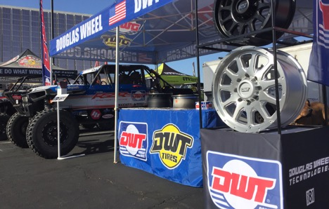 Wes Miller and Bomb Squads RZR at the DWT Tires booth.