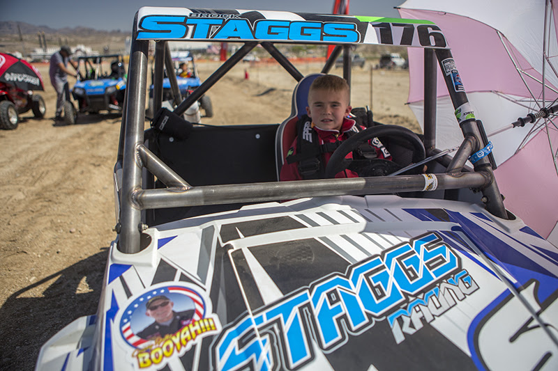 Brock Staggs in his RZR 170, before the start of the UTVWC