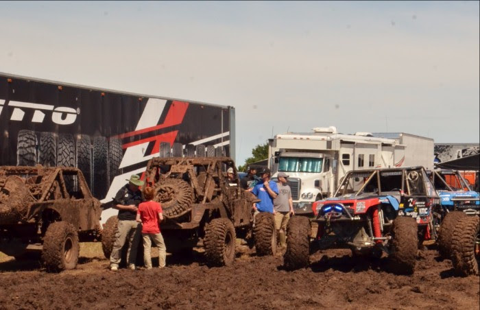 Getting stuck in mud in the pits at Ultra4 Davis Oklahoma