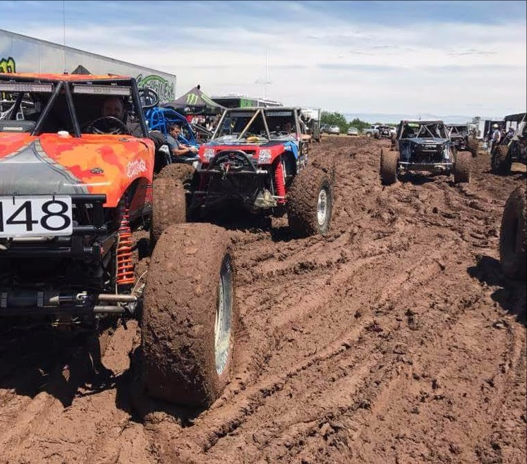 Derek West Battles the mud at the start of Ultra4 Davis Oklahoma