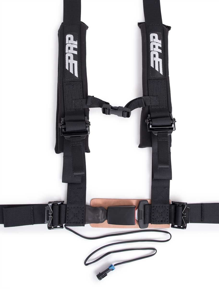 "PRP 4 Point 2/"" Harness Seat Belts Automotive Style Latch Gray Polaris RZR All"