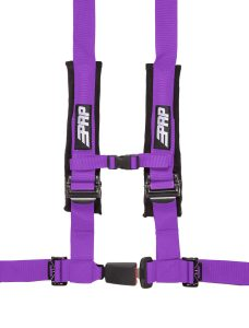 PRP 4 point harness with auto latch, purple